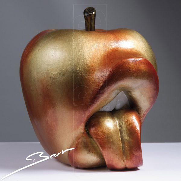 Big apple inviting you to lick it, grote appel nodigt je uit haar te likken
